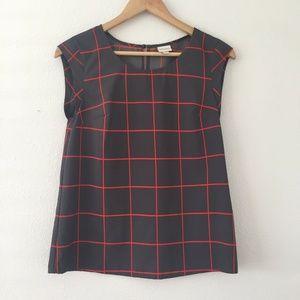 Merona Geometric Printed Short Sleeve Blouse S